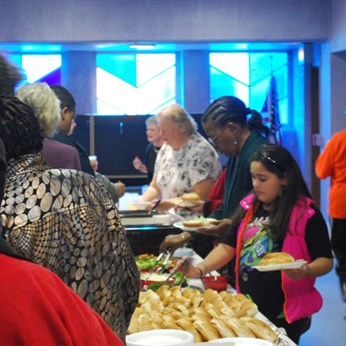 Beuchel UMC hosted the 2013 MLK Day Celebration. Lunch was served between the workshops and the worship service.