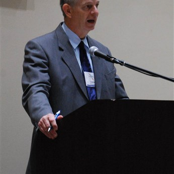 Conference Lay Leader, Lew Nicholls, delivers the laity address
