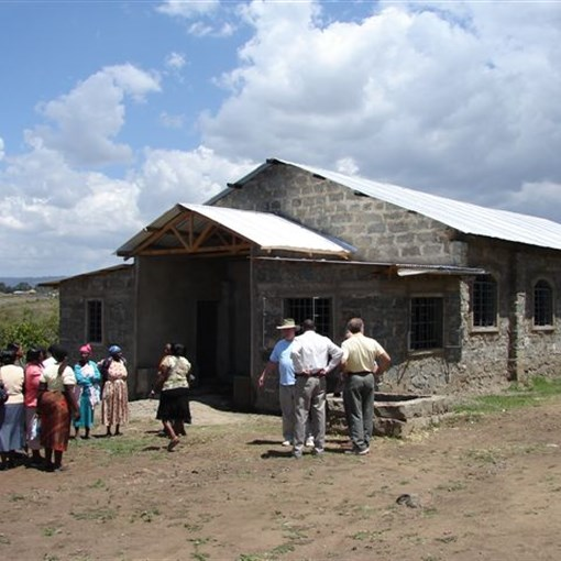 Ririshua UMC in Naivasha District. The pastor is Paul Mbunga. The Denhams and groups that have travelled with them to Kenya have witnessed this church being built (with a small support from Maysville Trinity) from the ground up.