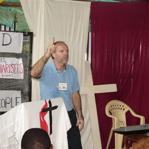 Rev. Eric Patterson leading pastor training in Meru