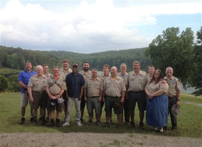 Kentucky Conference: Bishop visits scouts, leaders at summer